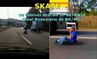 SENTADO no Skate: HOMEM desce o perigoso ANEL RODOVIÁRIO de BH em meio aos carros e caminhões (e ainda dá seta com a mão)